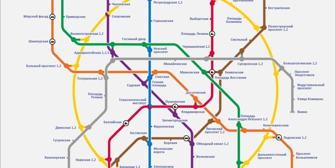 Схема метро спб фото